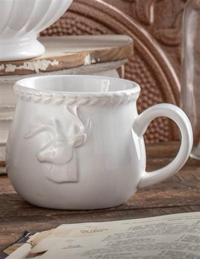 Winter White Stag Mug
