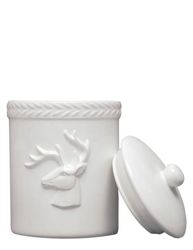 Winter White Stag Canister