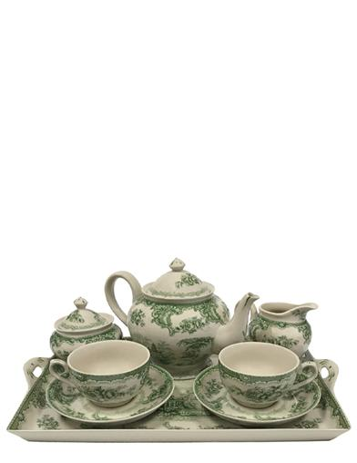 Green Gondola Tea Set