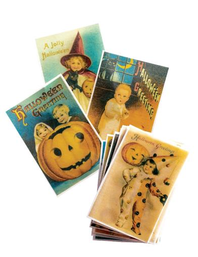 Victorian Halloween Decoration Wafers (Set Of 24)