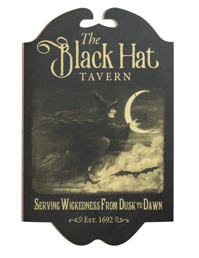 Black Hat Tavern Sign