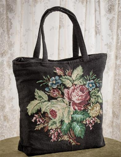 Midnight Bouquet Tapestry Tote