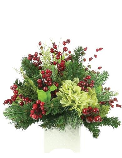 Glad Tidings Evergreen Floral Arrangement