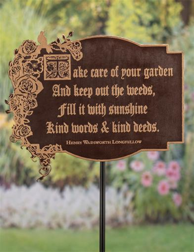Take Care Of Your Garden Sign