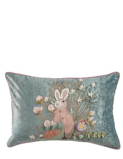 Peter's Pride Embroidered Garden Pillow