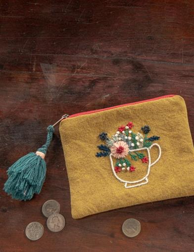 Teacup Bouquet Zipper Pouch