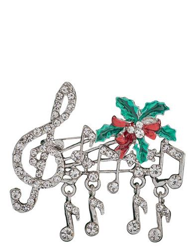 Chant De Noel Christmas Brooch