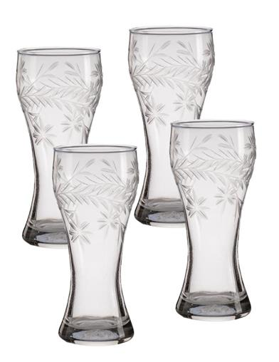Bavarian Beer Garden Etched Glasses (Set Of 4)