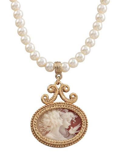 Two Muses Cameo Necklace