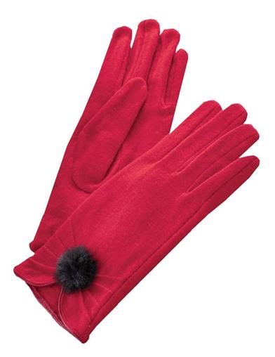 Ruby Red Gloves