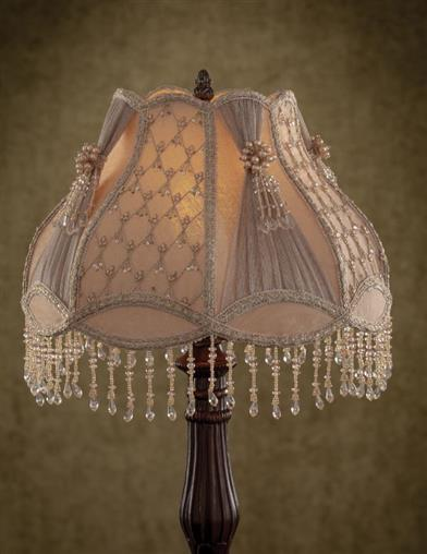Embroidered Opulence Dome Shade
