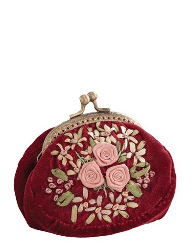 Embroidered Beauty Coin Purse