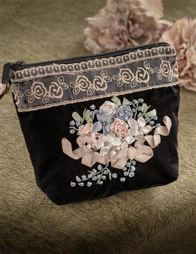 Embroidered Beauty Zipper Bag