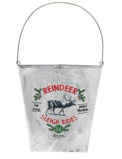 Reindeer Sleigh Rides Wall Pocket