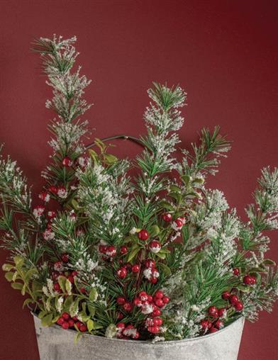 Holly Berry Evergreen Spray