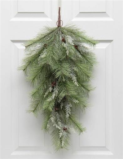 Frosted Pine Door Swag