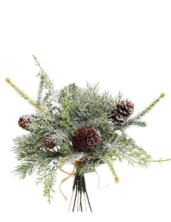 Victorian Trading Frosted Pine Wintergreen Bouquet