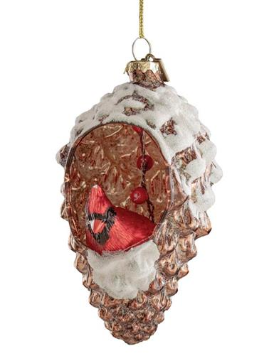 Cardinal In Pinecone Ornament