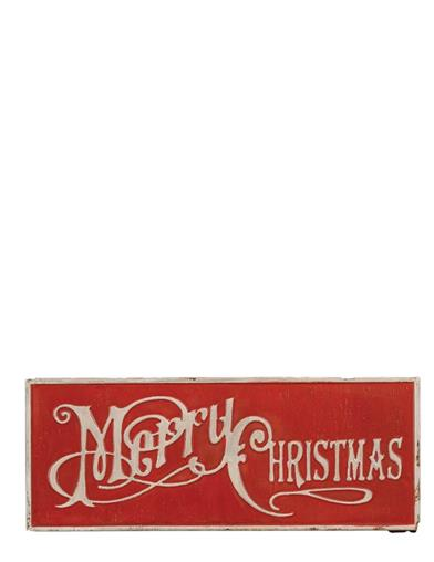 Merry Christmas Metal Sign