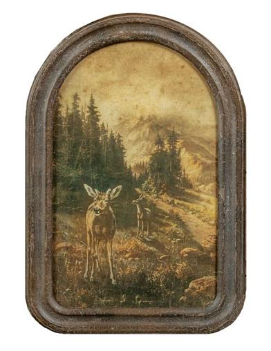Antique Rustic Deer Print