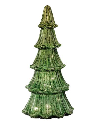 Enchanted Evergreen Lighted Mercury Glass Tree