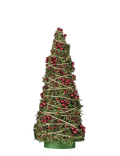 Merry Moss Twine-wrapped Christmas Tree 18 In