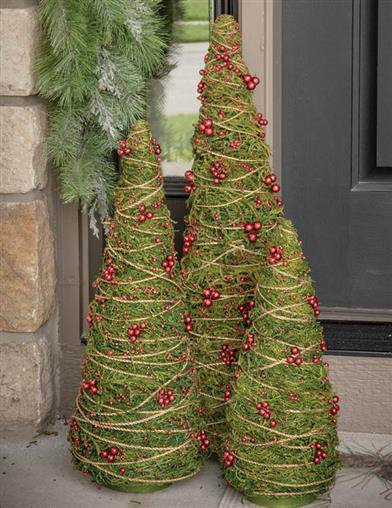 Merry Moss Twine-wrapped Christmas Tree 30 In
