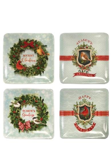 Holiday Chirp & Cheer Ceramic Dishes