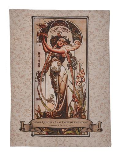 Tasting The Stars Champagne Tea Towel
