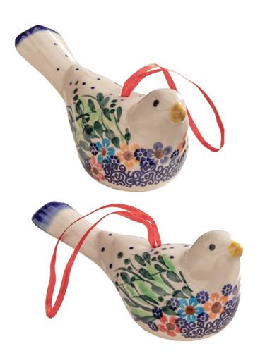 Cheerful Chirps Polish Pottery (Set Of 2)