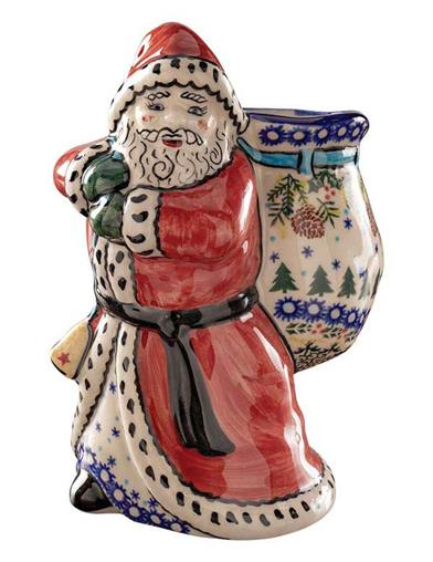 Old World Santa Polish Pottery Container