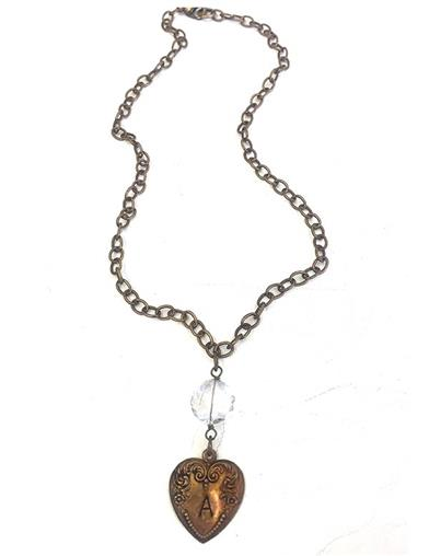 Bronze Heart Customizable Necklace