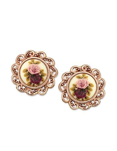 Gilded Rose Clip-on Earrings