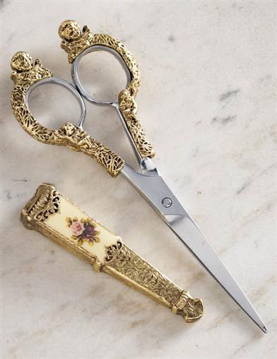 Baroque Floral Embroidery Scissors