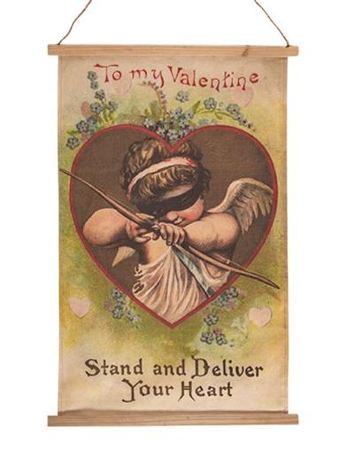 Be My Vintage Valentine Canvas Banner