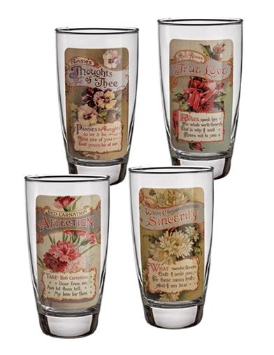 Language Of Flowers Drinking Glasses