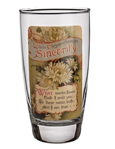 Language Of Flowers Drinking Glasses (Set Of 4)