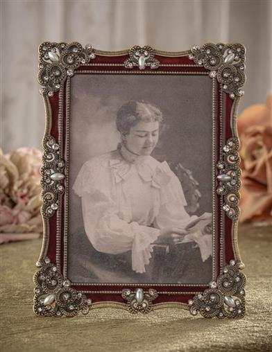 Jeweled Enamel Photo Frame