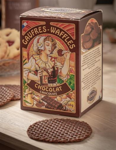 La Dunkerquoise Chocolate Butter Waffle Cookies