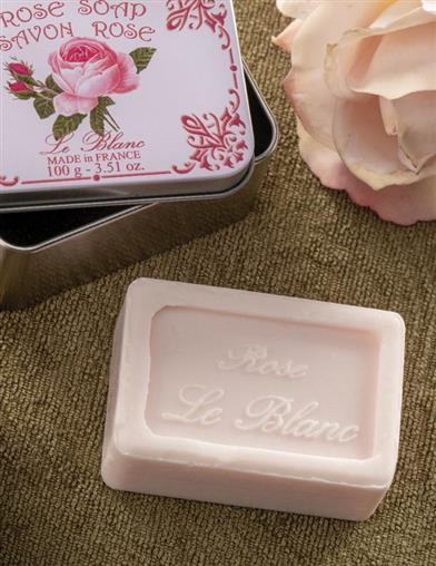 Le Blanc Rose Soap With Tin