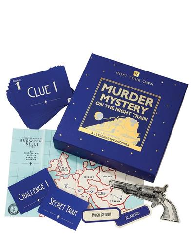 Murder Mystery On The Night Train Game Kit