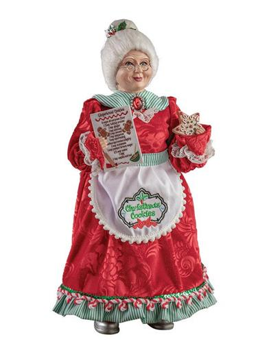 Baking With Mrs. Claus Figurine