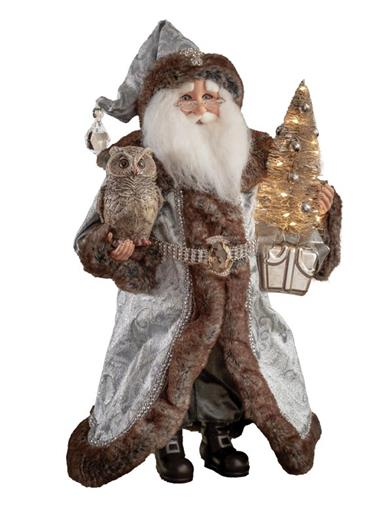 Lighted Midnight Elegance Santa