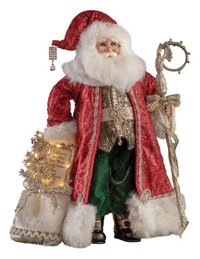 Victorian Father Christmas Lighted Santa