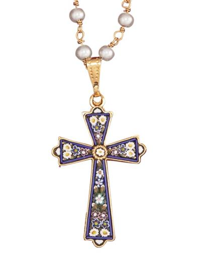 Florentine Mosaic Cross Necklace