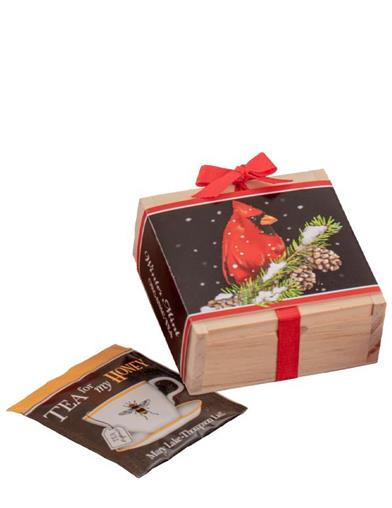 Winter Cardinal Mint Tea Box