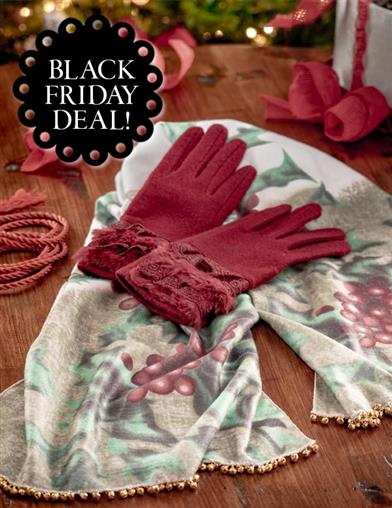 Hollyberry Scarf & Gloves Gift Set