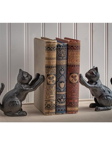 Captivating Kittens Cast Iron Bookends (Set Of 2)
