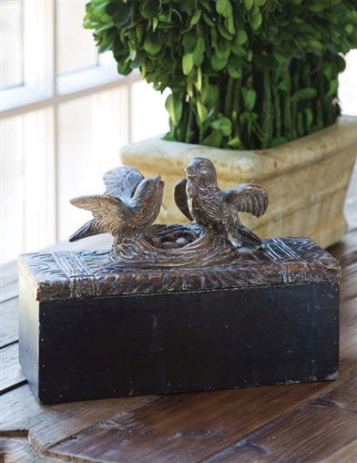 Nesting Lovebirds Keepsake Box