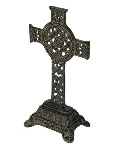 Celtic Iron Pedestal Cross